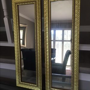 Set of Gold Framed Mirrors